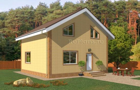 Проект небольшого одноэтажного дома с мансардой Rg5022