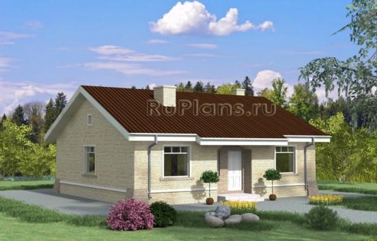 Проект одноэтажного коттеджа Rg3928