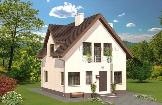 Проект одноэтажного дома с мансардой Rg4953