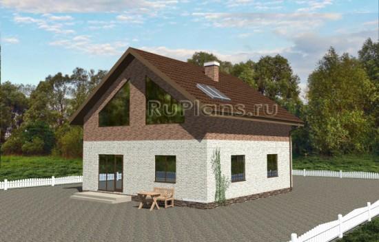 Одноэтажный коттедж с мансардой Rg3571