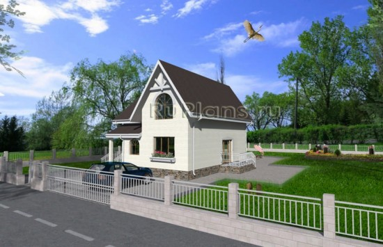 Комфортный одноэтажный дом с мансардой Rg3714