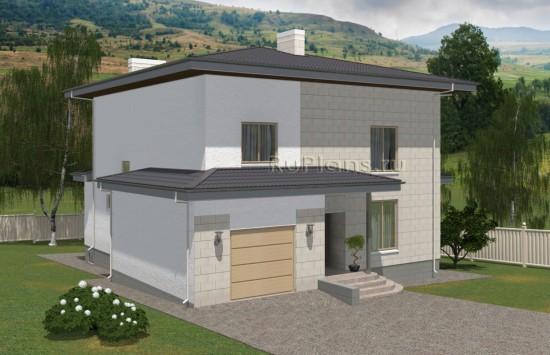 Проект просторного двухэтажного жилого дома с подвалом и чердаком Rg5023
