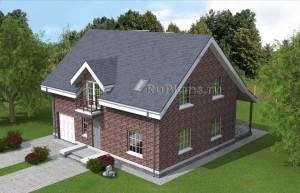 Проект одноэтажного дома с мансардной и подвалом Rg4897