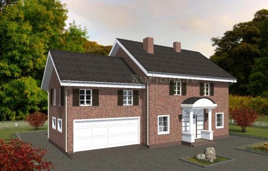 Проект индивидуального одноэтажного жилого дома с мансардой в английском стиле Rg4989