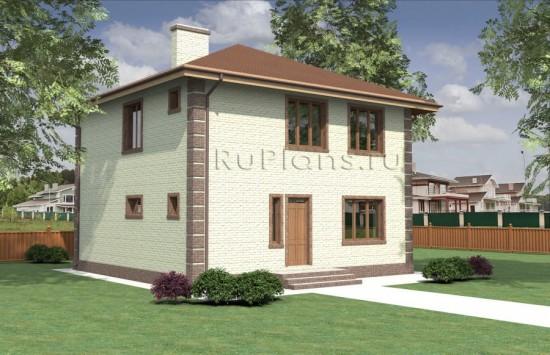 Проект двухэтажного дома Rg3956