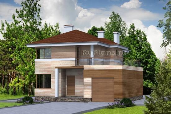 Проект комфортного коттеджа, площадью 166,66 м2 Rg4756