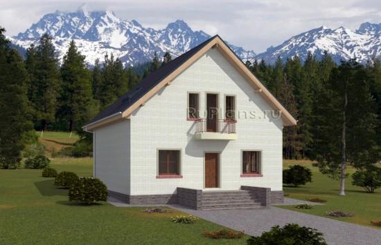 Проект лаконичного одноэтажного дома с мансардой. Rg5019