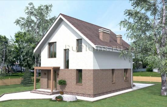 Аккуратный дом с мансардой Rg3855