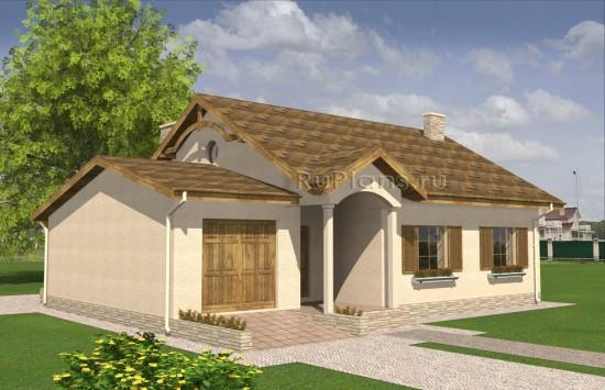 Проект одноэтажного дома с чердаком Rg4965