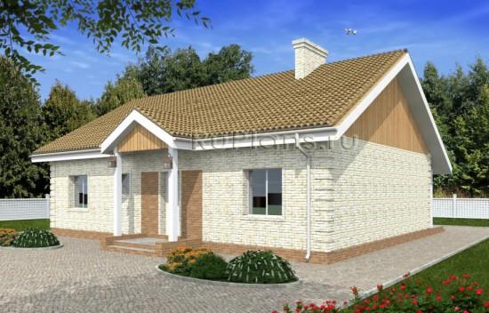 Проект удобного одноэтажного дома Rg4866