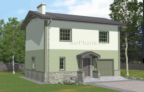 Проект лаконичного двухэтажного дома Rg4984
