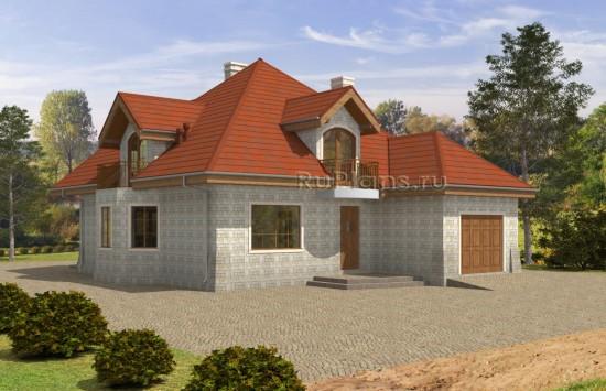 Проект отличного одноэтажного дома с мансардой. Rg5044