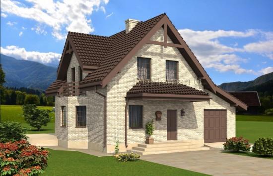 Проект одноэтажного дома с круглой террасой Rg4911