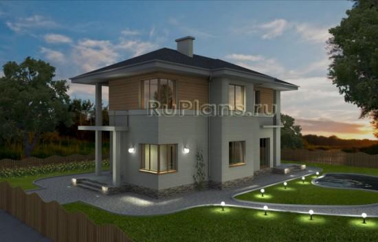 Проект уютного двухэтажного жилого дома с эркером Rg1614