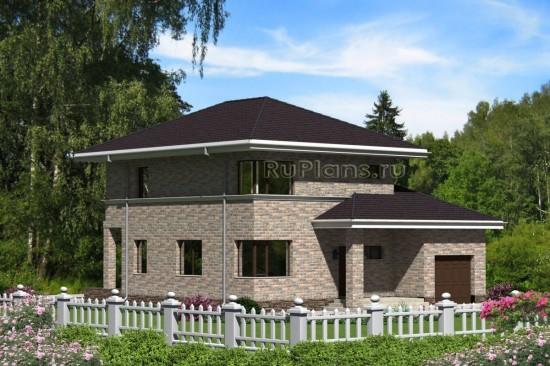 Проект индивидуального двухэтажного  жилого дома Rg4748
