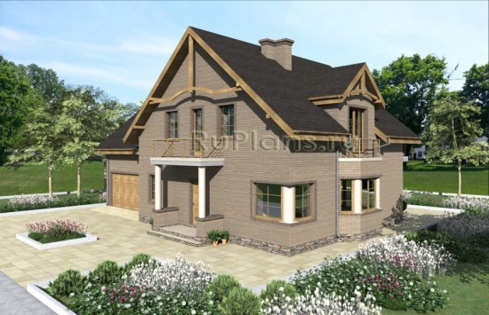 Проект одноэтажного дома с мансардой Rg4848