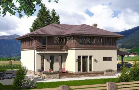 Проект современного двухэтажного коттеджа Rg3968