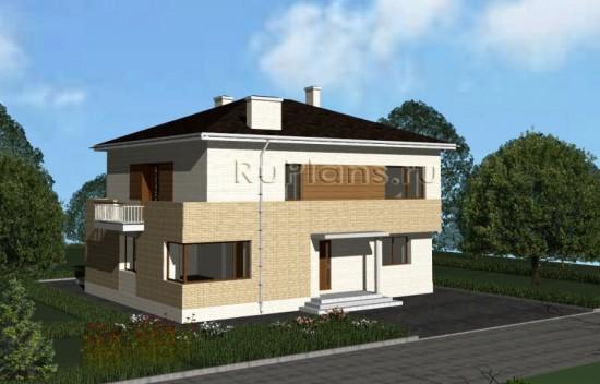 Проект просторного двухэтажного дома Rg3450