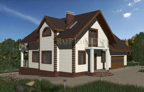 Проект дома с мансардой и цокольным этажом Rg3326
