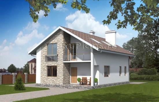 Проект небольшого дома с мансардой Rg1575
