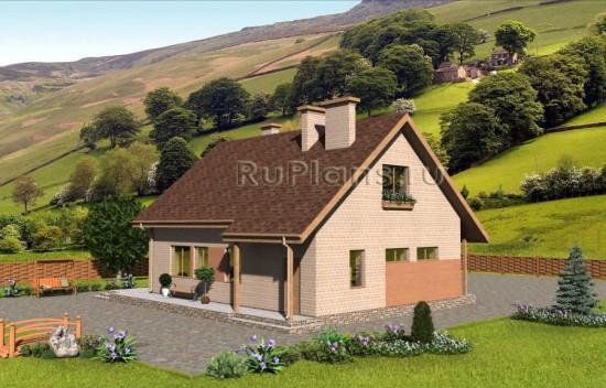 Проект одноэтажного дома с мансардой Rg1579