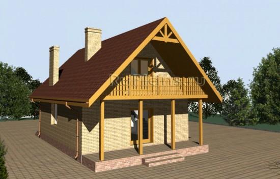 Уютный дом с мансардой Rg3449