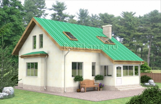 Проект одноэтажного дома с мансардой Rg4835