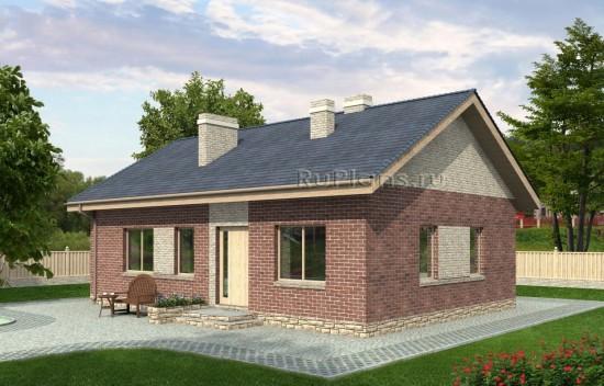 Проект индивидуального одноэтажного жилого дома Rg4766
