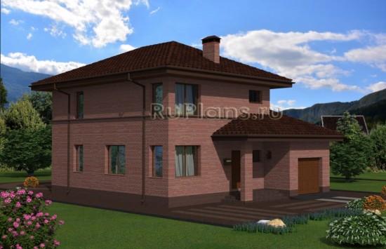 Проект двухэтажного дома с гаражом Rg4818