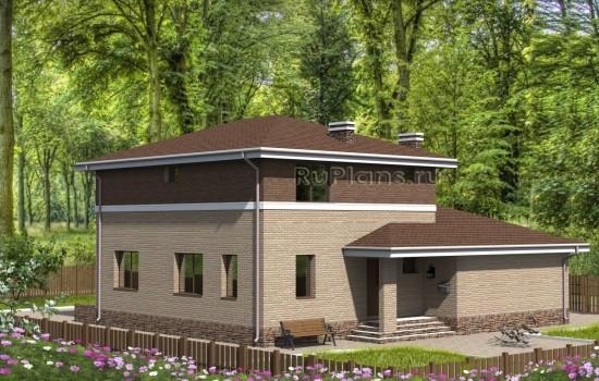 Проект двухэтажного дома с гаражом Rg4750