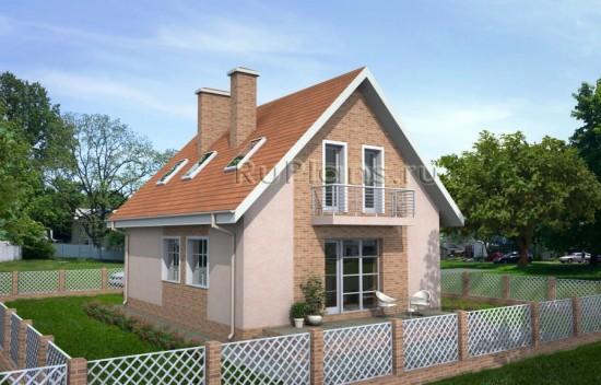 Аккуратный дом с мансардой Rg3798