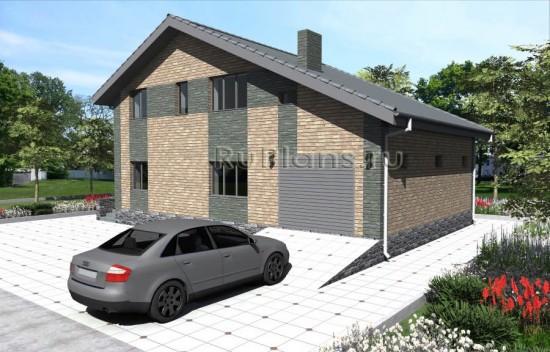 Проект одноэтажного дома с мансардой и гаражом Rg3965