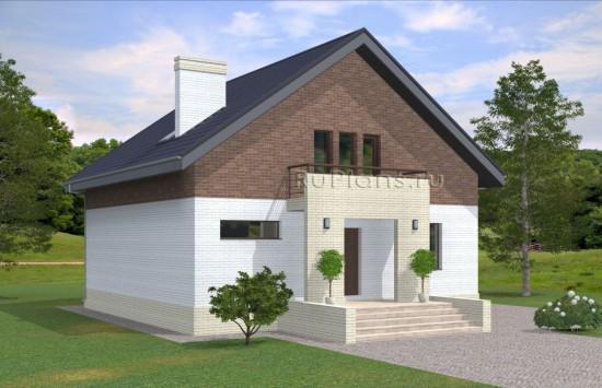 Проект недорогого одноэтажного дома с мансардой Rg5010