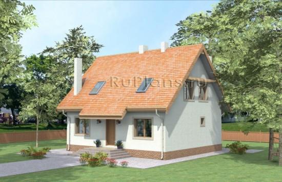 Проект дома с мансардой Rg3857