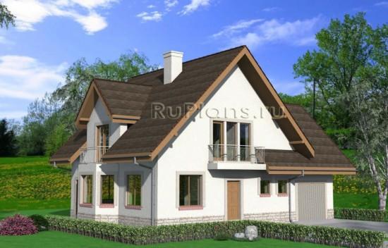 Проект дома с мансардой Rg3930