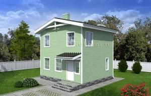 Проект компактного двухэтажного дома Rg4978