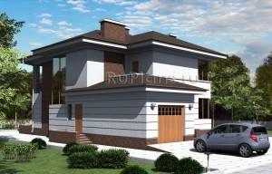 Проект одноквартирного двухэтажного жилого дома Rg1580