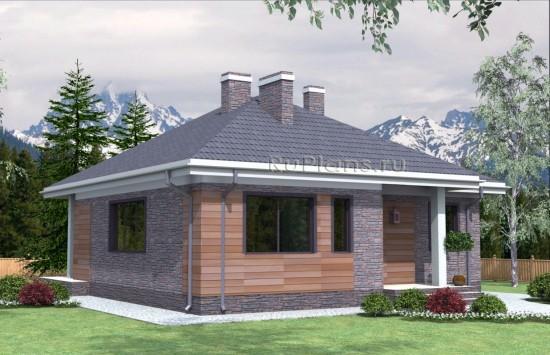 Проект индивидуального одноэтажного жилого дома Rg4765