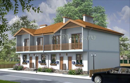 Проект двухэтажного таунхауса Rg3829