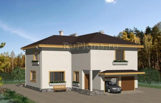 Проект компактного двухэтажного жилого дома Rg3187