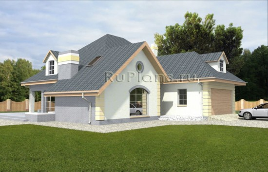 Проект просторного дома из газобетона Rg3669