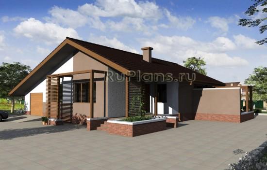 Небольшой одноэтажный дом с гаражом Rg3245