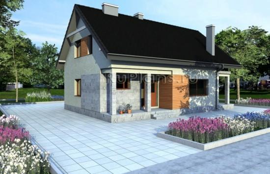 Одноэтажный дом с мансардой Rg3852