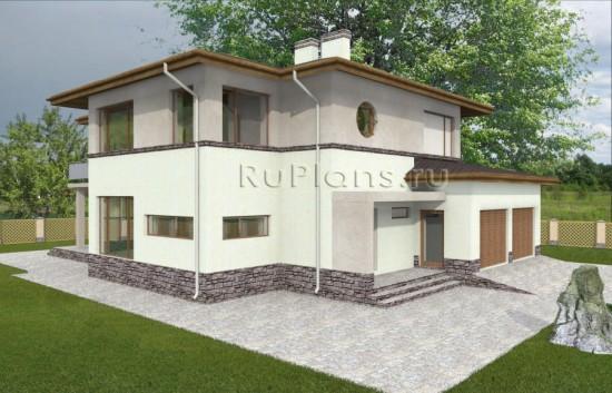 Проект просторного двухэтажного коттеджа Rg3670