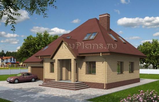 Проект одноэтажного дома из газобетона Rg3951