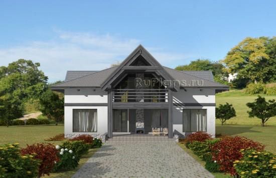 Проект современного одноэтажного гостевого дома с мансардой. Rg5050