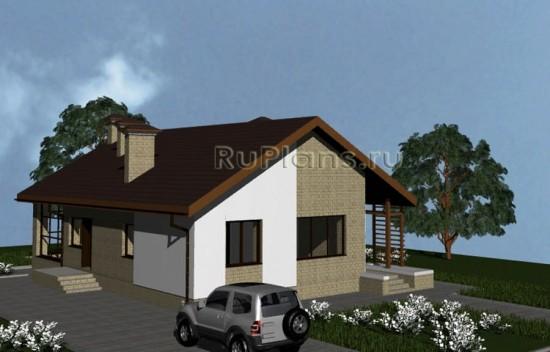 Проект одноэтажного комфортного дома Rg3678