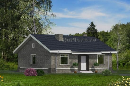 Проект индивидуального одноэтажного  жилого дома Rg4745