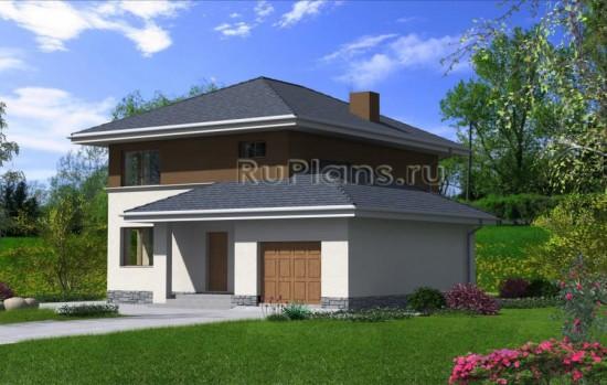 Проект загородного дома из забутовочного кирпича Rg4776