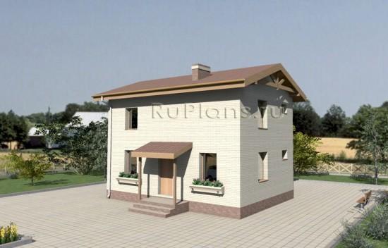 Проект комфортного двухэтажного коттеджа Rg3720